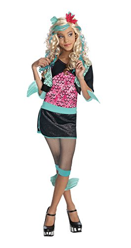 Girls Mh Lagoona Blue Kids Child Fancy Dress Party Halloween Costume, S (4-6) -