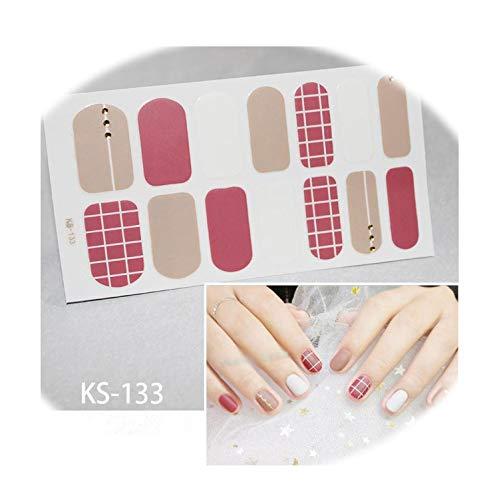 1 New Nail Sticker Fully Waterproof Diy Decal Nail Art Ornament Wrap Slider Nail,Ks-133 ()