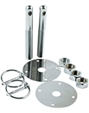 """Allstar Performance ALL18512 Steel Hood Pin Kit with 3/16"""" Flip-Over Clip"""
