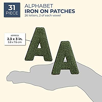 Z 52 Count Bright Creations Iron On Alphabet Letter Patches A