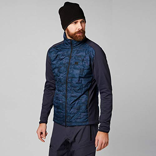 Helly Hansen Men's Lifaloft Hybrid Insulator Jacket, Graphite Blue Camo, X-Large