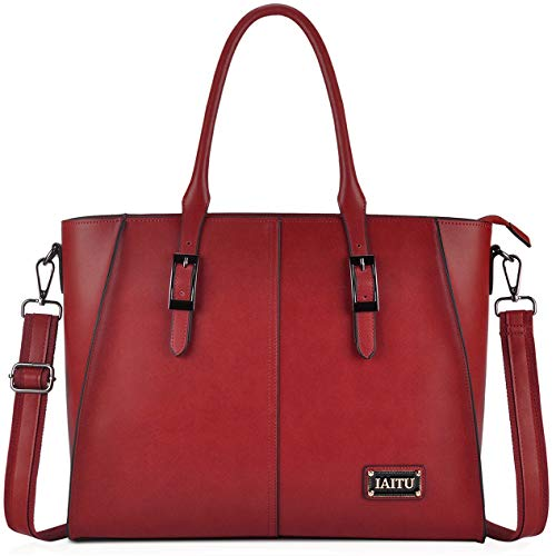 IAITU Laptop Tote Bag, Work Bags for Women Laptop Purse Fits Up to 15.6 Inch ()