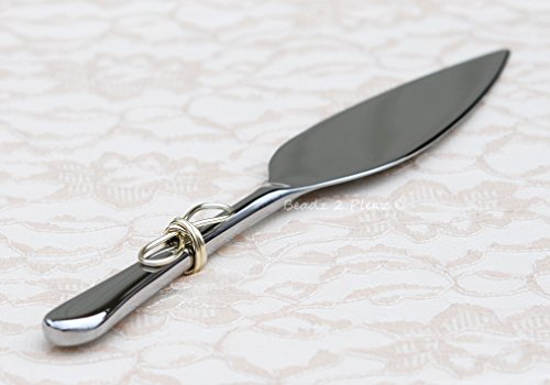 Cake Knot Love - Personalized Wedding Cake Cutter, Infinity Knot, Cake Server And Knife In ONE, Custom Made, Love Knot Cake Knife, Gift For Bridal Couple, Bridal Shower Idea, Simple Elegant Cake Cutting Knife,