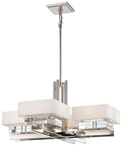 Metropolitan N6268-613 Eden Roe Chandelier, 8-Light 600 Total Watts, Polished Nickel