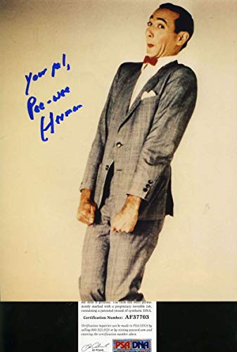 Photo Signed Herman - PEE WEE HERMAN PSA DNA Coa Hand Signed 8x10 Photo Autograph