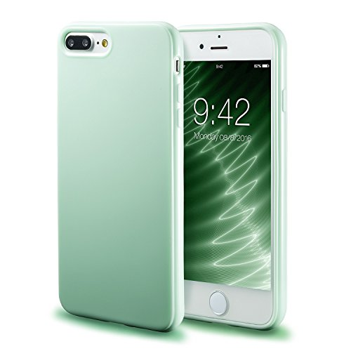 iPhone 7 Plus Mint Case/iPhone 8 Plus Mint Case, technext020 Shockproof Ultra Slim Fit Silicone TPU Soft Gel Rubber Cover Shock Resistance Protective Back Bumper for iPhone 7 Plus/iPhone 8 Plus