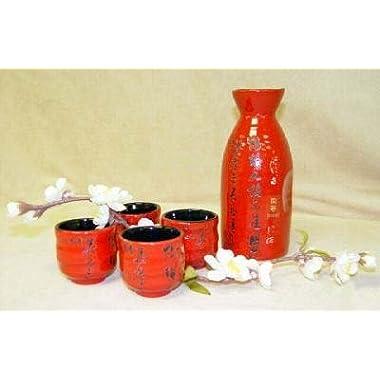 Happy Sales Japanese Sake Set/ red.black ltr