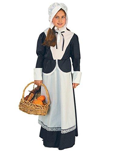 Forum Novelties Pilgrim Girl Costume, Child's Large -