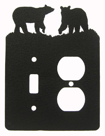 Bear Single Light Switch & Power Outlet Plate Cover