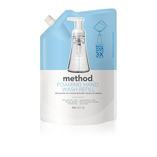 Method Foaming Hand Soap Refill, Sweet Water, 28 Ounce (Pack 6) Body Soap Refill