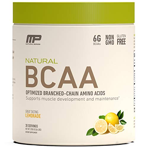 MusclePharm Natural BCAA Powder, Post-Workout Recovery Drink, Lemonade, 30 Servings