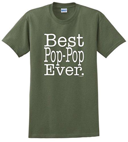 Best Pop-Pop Ever T-Shirt 2XL Military Green ()