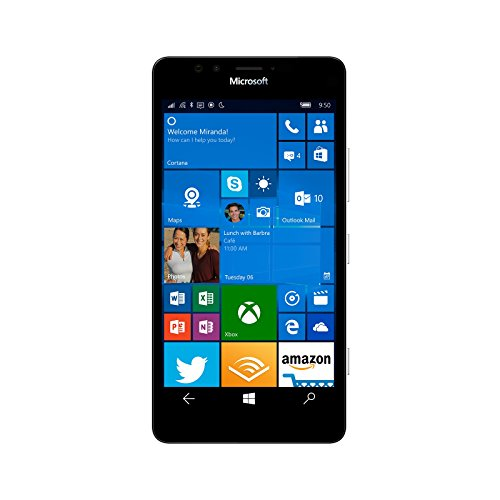 Microsoft Lumia 950 XL 32GB Factory Unlocked 4G/LTE – UK Version with No Warranty (White)