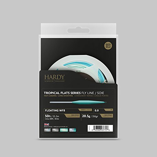(Hardy Tropic Flats Series Saltwater Fly Line, Marine/Teal, wf8)