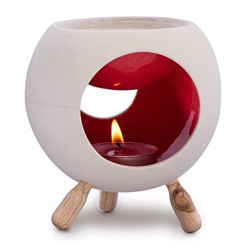 Kaloogo - Sabai Scent Keramik Duftlampe rund (Duftlicht) - rot