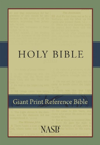 Nasb giant print reference bible fitbit for New american standard bible red letter edition