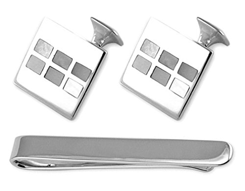 Cufflinks Box pearl mother silver Tie Set Clip of Sterling FCBZwq4