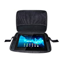 "Navitech's Onyx Armoured EVA Hard Shell For Total Tablet Protection And Complete Peace Of Mind. A Cover / Zip Close Case For Devices With Screens Up To 11.6"" Including: Sony Reader Pocket Edition PRS-350 5"" / PRS-650 6"" / PRS-900 7.1"" / PRS-600 6"" / PRS-300 5"" / PRS-300SC 5"" / PRS-700 6"" / PRS-505 6"" / PRS-500 6"" / PRS-T1 6"" / Librié 6"", Spring Design Alex eReader 6""."