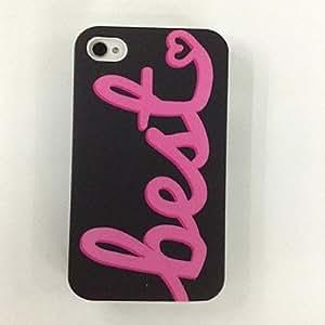 conseguir Mejor Patrón Cartas Diseño policarbonato casos duros para el iPhone 4/4S , Multicolor