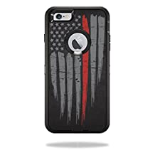 MightySkins Protective Vinyl Skin Decal for OtterBox Defender iPhone 5C Case wrap cover sticker skins Thin Red Line