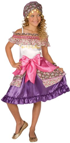 Gypsy Kid Costumes (Elope Gypsy Costume, Pink, Girls)