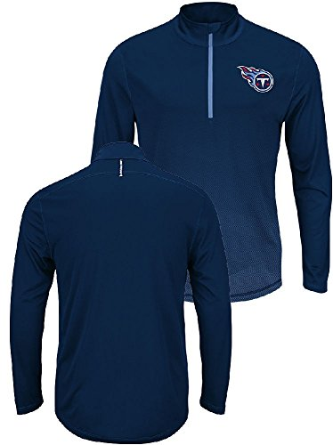 Majestic Tennessee Titans Intimidating Half Zip Pullover Synthetic Windshirt (X-Large) ()