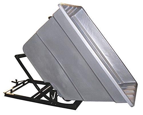 (Gray Self-Dumping Hopper, 59.4 cu. ft, 1500 lb. Load Cap, 55