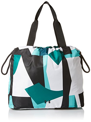 Under Armour Womens Cinch Printed Tote, Tropical Tide (425)/Black, One Size