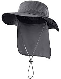 517da1f18ce Outdoor UPF50+ Mesh Sun Hat Wide Brim Fishing Hat with Neck Flap · Home  Prefer