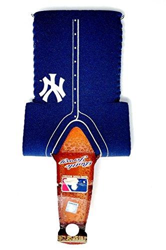 New York Yankees BLUE 12oz JERSEY Bottle Koozie Holder Cooler Baseball