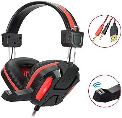 SUNSEATON Auriculares Gaming, Cancelación De Ruido Gaming Headset ...