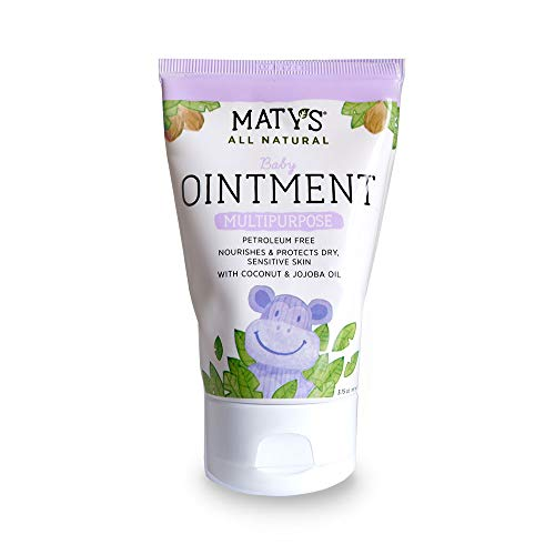 Maty's All Natural Baby Ointment, 3.75 oz, Petroleum Free, Safe for Cloth Diapers, Natural Alternative to Petroleum-Based Diaper Rash Creams, Safe For Sensitive Skin, Chemical & Fragrance Free from Matys