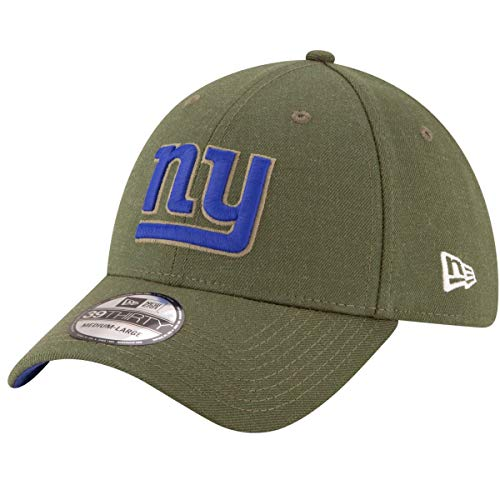 New Era Mens NFL 2018 Salute to Service 39Thirty Flex Fit Hat (Medium/Large, New York Giants) ()
