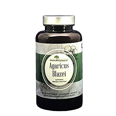 Pure Agaricus Blazei - Certified Organic - Natural Immune System Support - 525mg - 90 Vegetarian Capsules