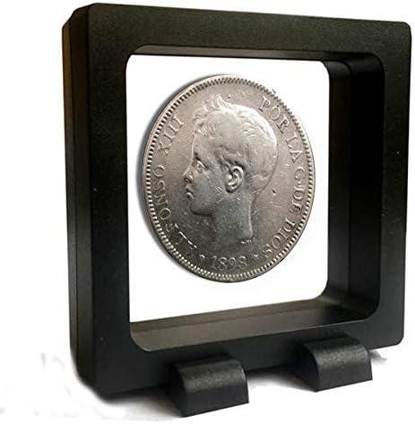 IMPACTO COLECCIONABLES Monedas Antiguas - España 5 Pesetas de Plata 1896/99. Alfonso XIII. Cadete: Amazon.es: Juguetes y juegos
