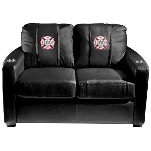 XZipit Silver Loveseat with Maltese Cross Logo Panel, Black
