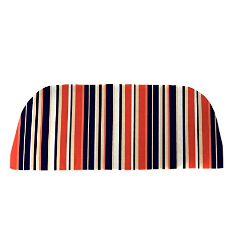 (Classic Polyester Outdoor Swing/Bench Cushion, 41'' x 18.75'' x 3'' - Midnight Stripe)