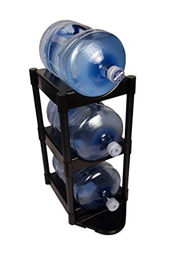 (Bottle Buddy 3-Tier with Floor Protection Kit, Black)