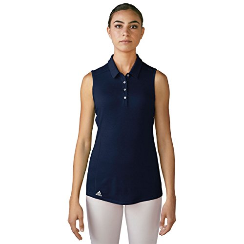 adidas Golf Women's Performance Polo Sleeveless T-Shirt, Navy, X-Small