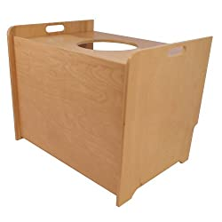 Top Entry Litter Box Cover (birch clear finish)