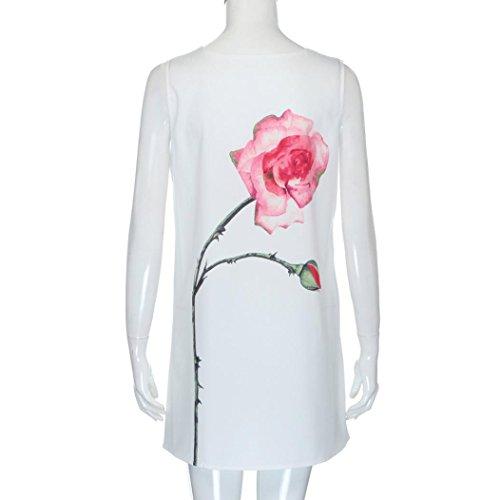 Fleur Robe Manches Ineternet Femmes Mini Court sans Lotus Imprim Noire Motif xqBZzx6