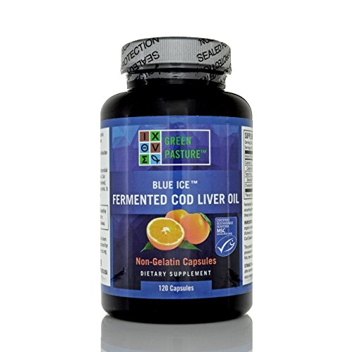 Blue Ice Fermented Cod Liver Oil Orange Flavor - 120 Caps (Fermented Cod Liver Oil Butter Oil Benefits)