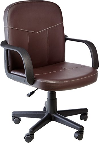 Comfort Products 60-238108 Bonded Leather Mid-Back Office Chair, Brown