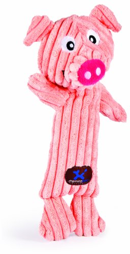 Charming Pet Squeakin' Squiggles Monkey Dog Toy – Tough and Durable Corduroy Plush Squeaky Toy for Dogs