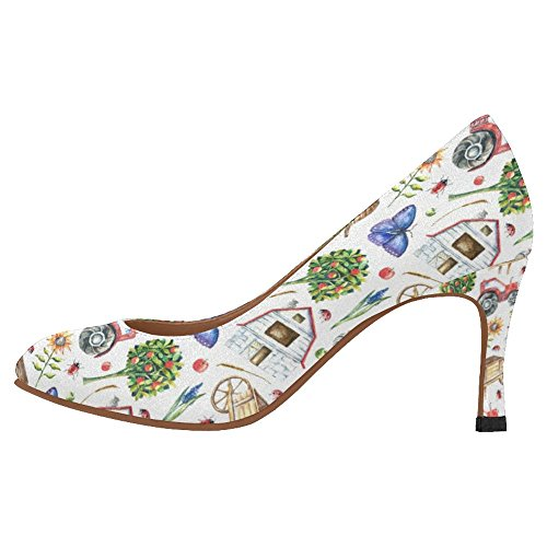 Interestprint Femmes Classique Mode Haute Talon Robe Pompe Chaussures Multi 10