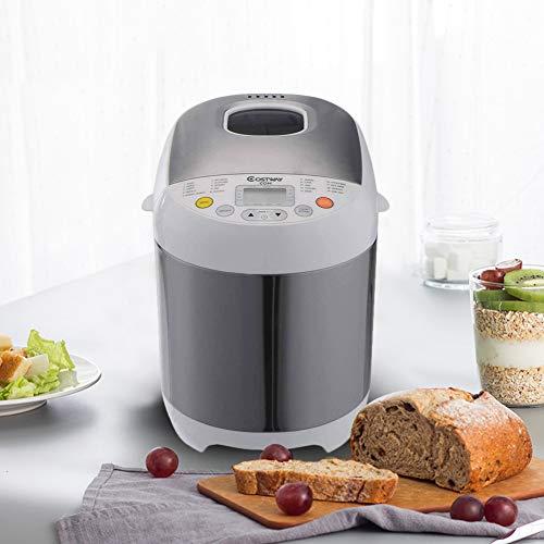 Bread Machine – Stainless Steel 2LB 550W Electric Programmable Breadmaker