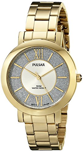 Pulsar Women's PG2002X Everyday Value Analog Display Japanese Quartz Gold Watch