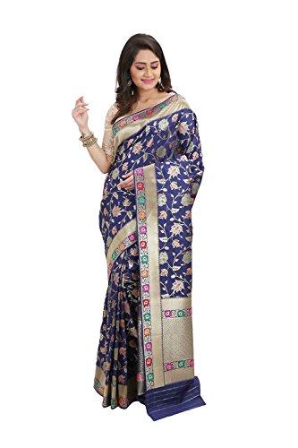 Da Facioun Indian Sarees For Women Wedding Designer Party Wear Traditional Midnight Blue Sari by Da Facioun