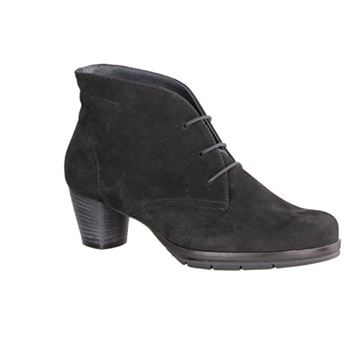 Semler Mira M41001-001 - Zapatos mujer moderno Botines, Negro, cuero (nubukina), altura de tacón: 50 mm