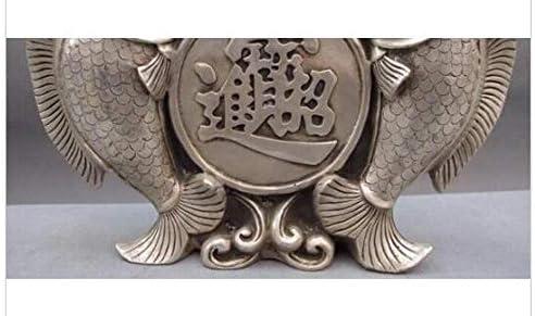 Escultura decorativas estatuas decoración cobre china plata lucky feng shui moneda 1